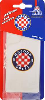 "Picture of Car Air Freshener ""Moj Hajduk"" white flag"