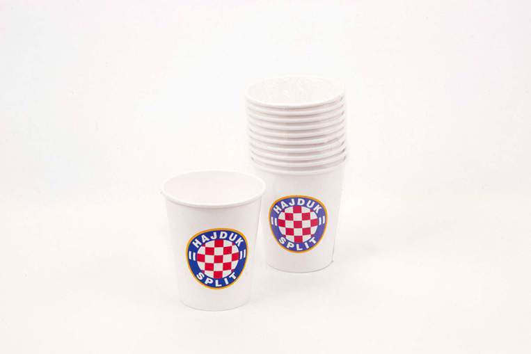 "Picture of Paper cup ""Hajduk"" white 10/1"