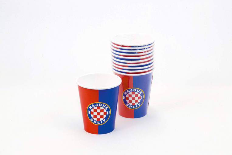 "Picture of Paper cup ""Hajduk"" red-blue 10/1"