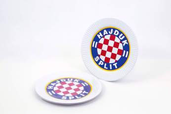 "Picture of Cardboard plate ""Hajduk"" white 10/1"