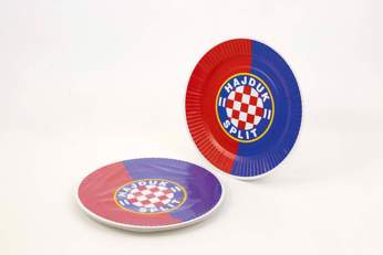 "Picture of Cardboard plate ""Hajduk"" red-blue 10/1"