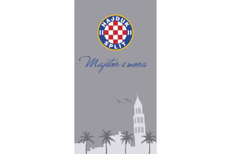 "Picture of Beach towel ""Majstor s mora"" gray 80*150 cm"