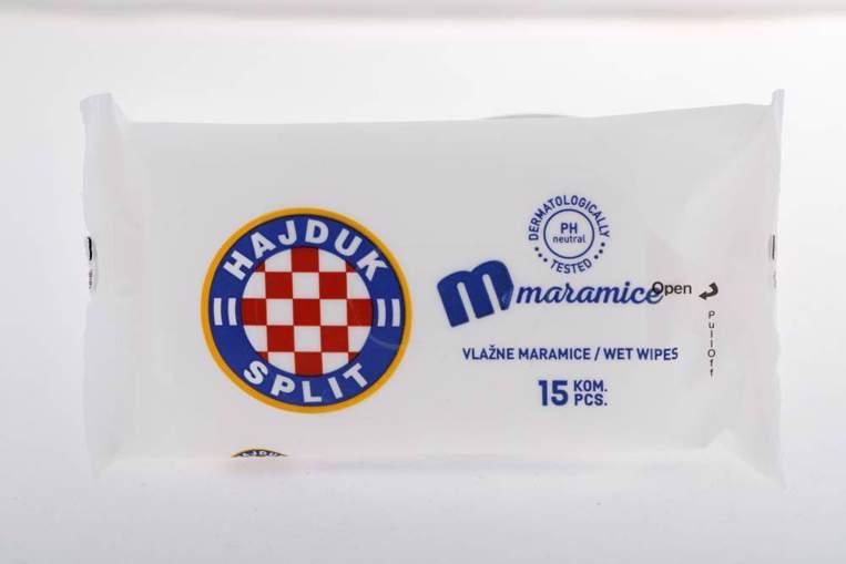 "Picture of Refreshing wet towels ""Hajduk"" white, 15 pcs"
