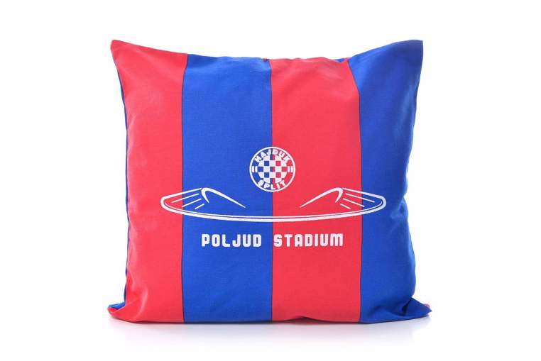 "Picture of Decorative pillow ""Poljud"" red-blue"