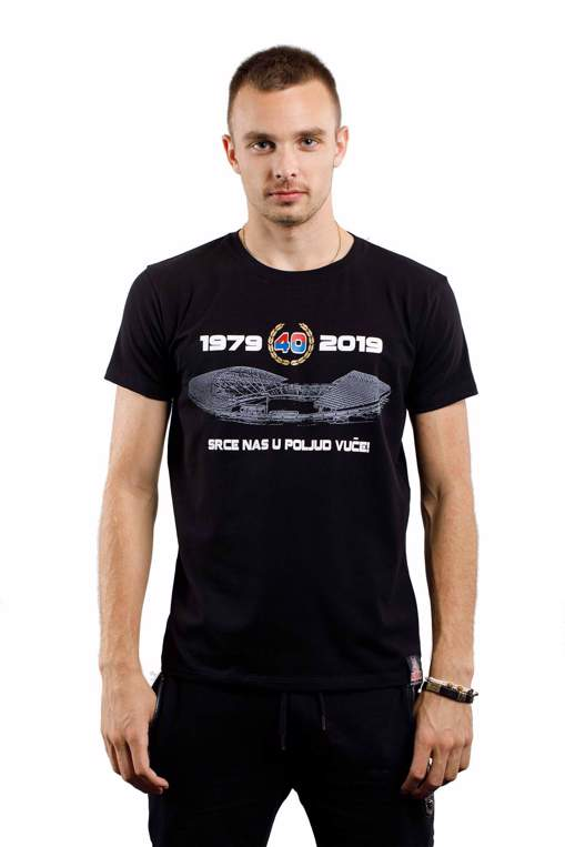 "Picture of T-shirt ""Srce nas u Poljud vuče"" black"