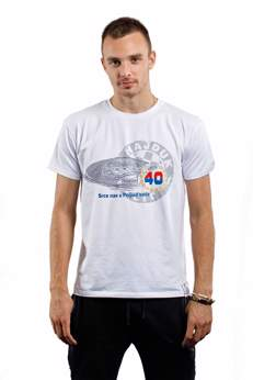 "Picture of T-shirt ""Srce nas u Poljud vuče"" white"