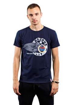"Picture of T-shirt ""Srce nas u Poljud vuče"" navy blue"