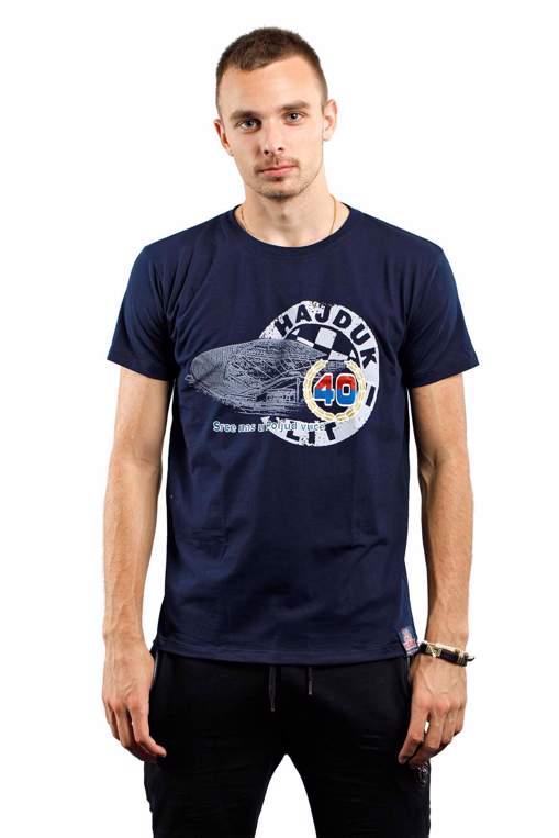 "Picture of T-shirt ""Srce nas u Poljud vuče"" navy blue"