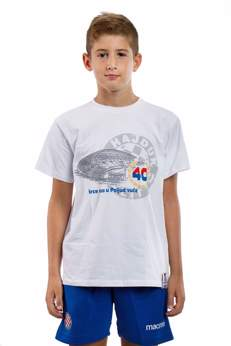 "Picture of Children's T-Shirt ""Srce nas u Poljud vuče"" white"