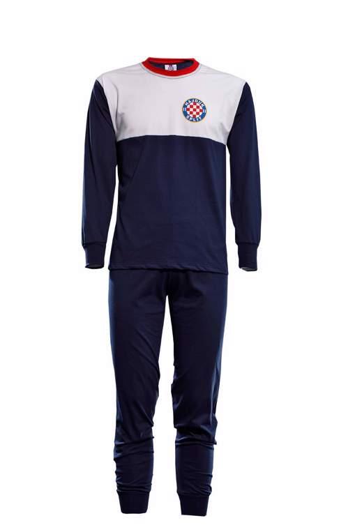 """Picture of Pidžama za odrasle """"Grb"""" bijelo-modra"""