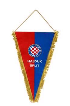 Picture of ZASTAVICA HAJDUK CRVENO-PLAVA 22X39 SVEČANA