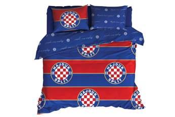 """Picture of Posteljina s navlakom """"Hajduk"""" crveno-plava 140*200cm"""